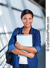 Afro, norteamericano, universidad, Estudiante