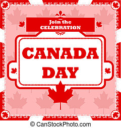 Canada Day celebration - Concept illustration showing a...