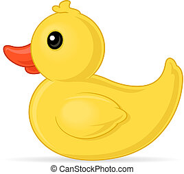 Rubber Duck - Yellow rubber duck vector cartoon illustration