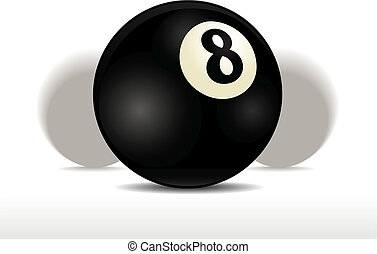 Eight Ball - Black pool eight ball vector illustration