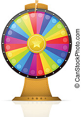 Wheel of Fortune - Colorful wheel of fortune vector...