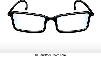 Eyeglasses - Black eyeglasses vector illustration