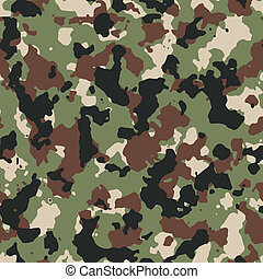 Dark woodland seamless vector camo pattern