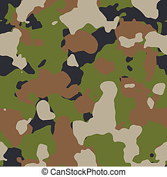 Green woods seamless camo vector
