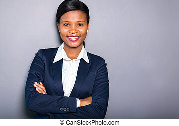 black businesswoman portrait - portrait of professional...