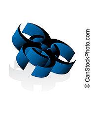 3d virus sign - Vector illustration of 3d virus sign in blue...