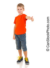 boy showing thumb up gesture - cute boy showing thumb up...