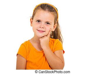 cute little girl close up - close up portrait of pretty cute...
