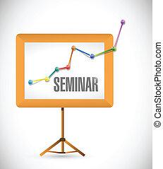 seminar business education board illustration design over a...