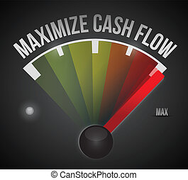 maximize cash flow mark illustration design over a black...