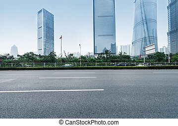 shanghai china - the scene of the century avenue in...