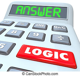 Logic Word Calculator Numbers Formula Equation Answer -...