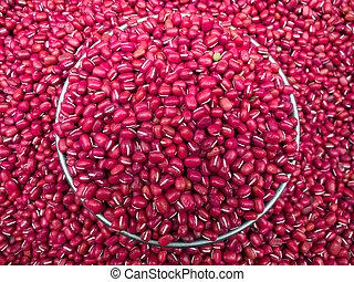 azuki bean, adzuki bean, aduki bean - Red beans (Azuki,...