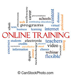 Online Training Word Cloud Concept