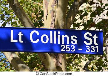 Lt Collins Street Sign - Melbourne - Lt Collins Street sign...