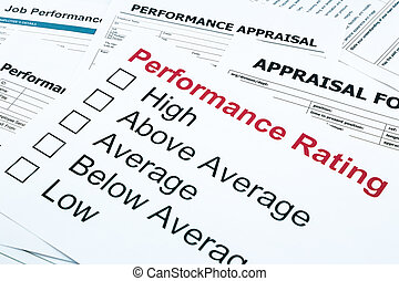 performance rating and appraisal form - closeup performance...