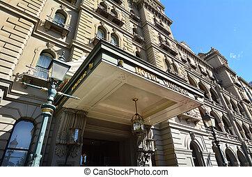 Hotel Windsor - Melbourne - The Facade of Hotel Windsor in...