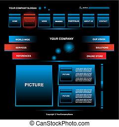 website design template - Web site design template, vector
