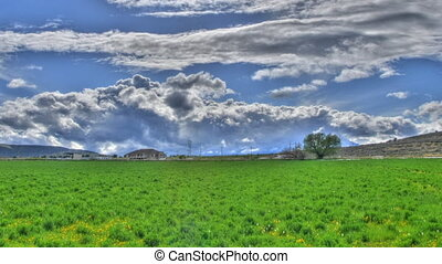 Tone Mapped Clouds Panning - High definition tone mapped...