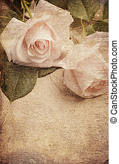 White Roses over textured background