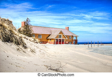 Ludington Beach House - The remodeled Ludington State Park...