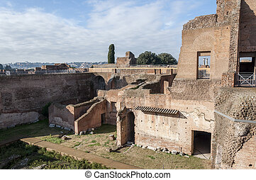 Palatine Hill - Ruins in the Palatine Hill, Rome, Italy