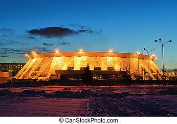 palacio, hielo, deportes, Rusia