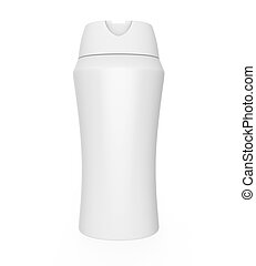 Shampoo Bottle isolated on white background 3D render