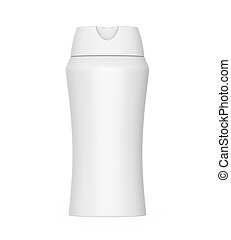 Shampoo Bottle isolated on white background. 3D render