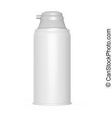Shaving Cream Bottle isolated on white background. 3D render