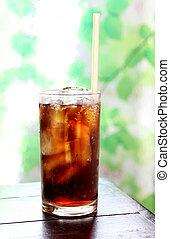 cola, bebida, vidro