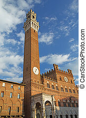 The Torre del Mangia Siena Tuscany, Italy - The Torre del...