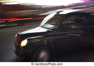 London Taxi Cab - Abstract blurry image of a London taxi cab...