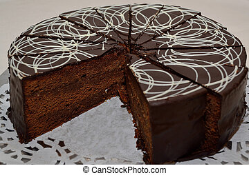 Sacher-Torte - traditionelle Wiener Sachertorte