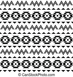 Tribal pattern, Aztec background - Vector folk Aztec...