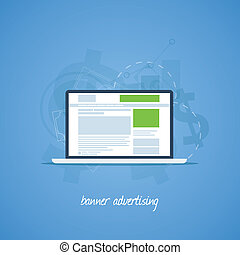 Website pay per click banner advertising vector concept