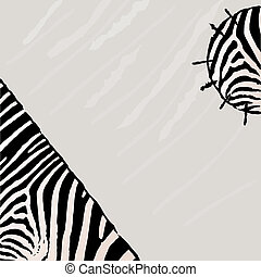 Abstract zebra vector background. Textile Grunge style