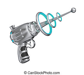 Science fiction gun - isolated on white background