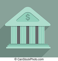 Bank - minimalistic illustration of a bank temple building,...