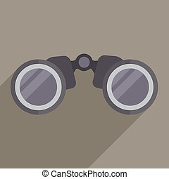 binoculars - minimalistic illustration of binoculars, eps10...