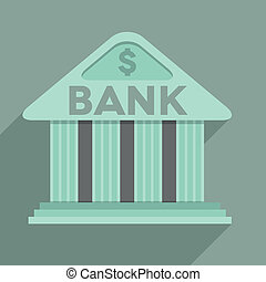 FLAT_Bank_02 - minimalistic illustration of a bank temple...