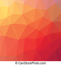 Abstract triangle geometric red square vector background