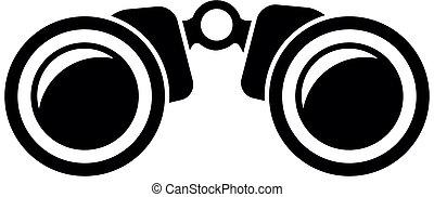 binoculars - illustration of a binoculars icon, eps10 vector