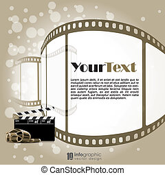 vector background movie, film strip - vector info graphic...