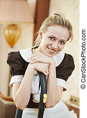 housemaid portrait at hotel service - Hotel service....