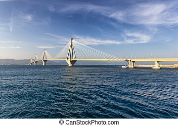 Rio bridge in Greece - cable bridge in rio that connects...