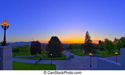 Capital Sunset Panning