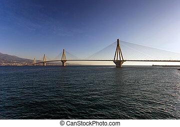 Rio bridge in Greece - cable bridge in rio that connects...
