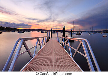 Sunset at Saratoga Australia - Sundown at Saratoga with the...