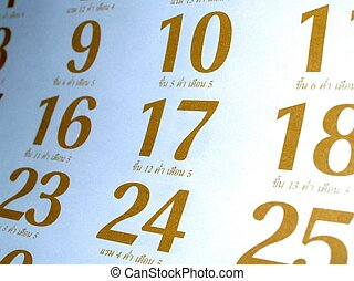 Months and dates calendar paper texture background